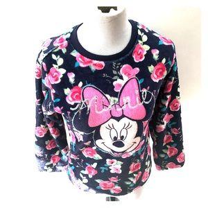 Disney Minnie floral sweater size xl